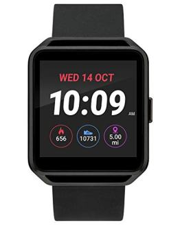iConnect by Timex iConnect Square Touchscreen Watch with Silicone Strap