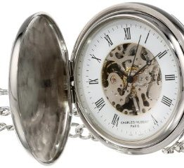 Charles-Hubert, Paris Two-Tone Mechanical Pocket Watch