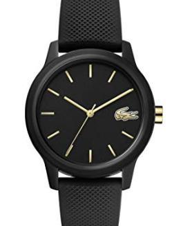 Lacoste TR90 Quartz Watch with Rubber Strap, Black