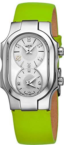 Philip Stein Signature Swiss Made Womens Dual Time Zone Watch
