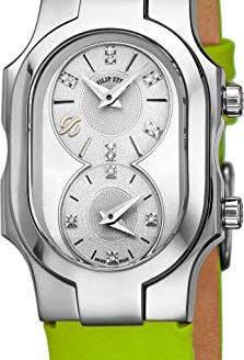 Philip Stein Signature Swiss Made Womens Dual Time Zone Watch