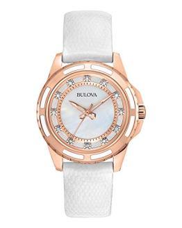 Bulova Women's Stainless Steel Diamond-Accented Quartz Watch