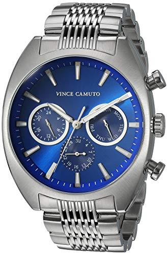 Vince Camuto Men's Multi-Function Silver-Tone Bracelet Watch