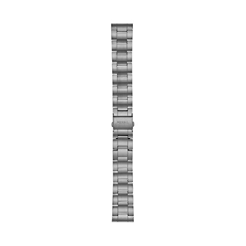 Fossil 22mm Stainless Steel Watch Band, Color: Gunmetal