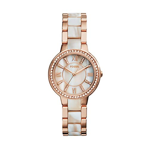 Fossil Women's Virginia Quartz Stainless Steel Horn Acetate Dress Watch