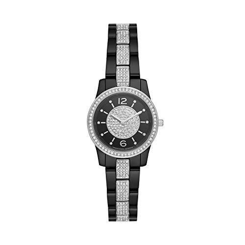 Michael Kors Women Runway Quartz Stainless Steel Black with Black Dial Watch