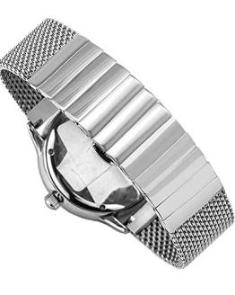 Quick Release Silver Watch Strap 18mm Milanese Mesh Watch Band for Women
