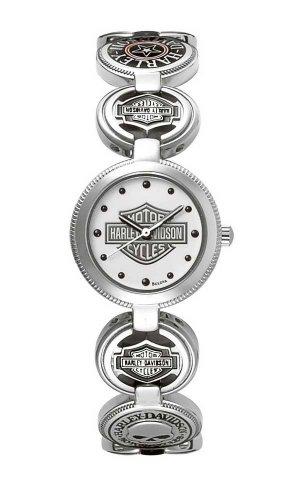 Harley-Davidson Women's Bulova Charm Bracelet Wrist Watch