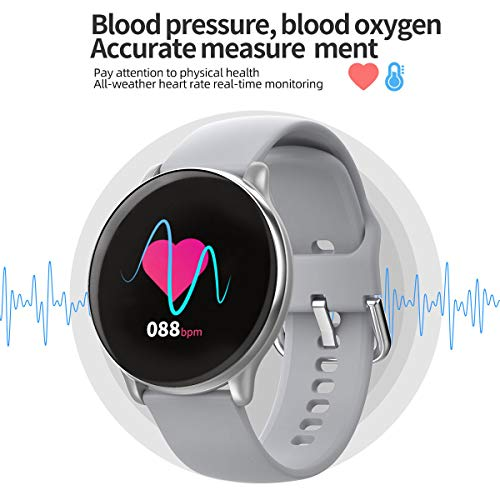 Smart Watch Pedometer Heart Rate Wrist Watch with Blood Pressure Calorie   Color Screen Display:The 1.3-inch color display is matched with a bracelet that fits the width of the human wrist.Bring a pleasant wearing experience.The large screen brings a comprehensive and rich information display.2.5D curved screen panel,open the new viewing window.The stylish shape is smooth and round Multi-Sport Mode:The smart watch support multi-sports modes such as walking,running,basketball,riding,etc.More accurate measurement times synchronization report and APP side synchronization display and support historical data analysis query Heart Rate&Blood Pressure:The upgraded optical sensor monitors the pulse conduction rate,combined with high precision,big data algorithm and blood pressure measurement is more accurate.Professional measurement,historical data help you understand better for your health status MULTIFUNCTION:1.Pedometer 2.Sport Mode 3.Sleep Monitor 4.Heart Rate Monitor 5.Blood Pressure/Blood Oxygen 6.Reminders:Alarm/Call/Message/Sedentary Reminder 7.Remote Camera 8.IP68Waterproof 9.Bluetooth Music 10.Alarm Call&Message Notification Display:Synchronize with the mobile phone to display reminder calls,display name or phone at the same time,and support message reading of different social software   Features:</p> <p>Multifunction: - Pedometer:calorie,step,distance - Sport Mode - Sleep Monitor - Heart Rate&Blood Pressure(for sport use only) - Reminders:Alarm/Call/Message/Sedentary Reminder - Remote Camera - IP68Waterproof - Bluetooth Music - Alarm</p> <p>Specification:  Dail Shape:Round Case Material:Zinc Alloy Band Material:Steel,Silicone Clasp Type:Sliding Clasp,Buckle Color:Black,Black Steel,Grey,Pink,Silver Steel Product Weight:55g</p> <p>Notes: - Waterproof:IP68 Waterproof - DO NOT suitable for hot water bathing,diving,swimming,water-related work</p> <p>Hardware: Screen Size:1.3-inch color IPS display Bluetooth:Bluetooth4.0 Manipulation Mode:Single Touch Battery:180mAh</p> <p>Requires :  IOS 8.0 or above,Android 4.4 or above</p> <p>What's in the box? - 1*Watch - 1*Watch Box - 1*User Manual - 1*Charging line</p> <p>Any questions, please kindly contact us, we would always offer best solution to you.