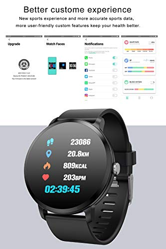 Smart Watches Color Screen Pedometer Sleep Monitor Blood Pressure Heart Rate   The fitness tracker has a 1.3-inch IPS 240*240 high-definition big color screen.Super clear display brings you a different visual experience.And the window dial is made of hardlex,make this smart bracelet more wear and scratch resistant MULTIFUNTION:1.Pedometer 2.Sleep Monitor 3.Blood Pressure 4.Heart Rate Monitor 5.Blood Oxygen Monitor 6.Multiple Sports Modes 7.Notification Support?(Wechat/QQ/SMS and so on) 8.Raise to wake 9.Remote Camera 10. IP67 waterproof 11.Anti-lost 12.Sedentary Reminders 13.Weather Forecast 14.Music Control More Personalized Design:This smart watch can customize the background image, and the background image can be replaced by the APP with the picture taken or downloaded.You can use your favorite picture as a background image.The strap can be easily replaced with your favorite color strap Blood Pressure&Heart Rate Monitor:When the heart rate function is turned on, the smart bracelet will monitor the heart rate every 30 minutes, and optimize the sports scene to provide safety, healthy and scientific protection for your exercise.It also can calculate BP values through the APP.Let you know more about your physical condition More Humane Experience:Accurately locate weather tips in real time via Bluetooth to make your outing more convenient.Connect your phone,it can help you unlock your phone.When there are incoming call,it will virbate.Recording sports information all day,monitor your body   Features:</p> <p>Multifunction: - Pedometer - Sleep Monitor - Blood Pressure&Heart Rate Measurement(for sport use only) - Multiple Sports Modes:Skiiping,Walking,Basketball,Badminton,etc - Reminders:Alarm/Call/Sedentary reminder - Notification Support - Remote Camera - IP67Waterproof - Anti-lost - Weather Forecast - Stopwatch - Music Control</p> <p>Specification:  Dail Shape:Round Case Material:Matel Band Material:Silicone(black,purple);Linen(grey) Dial Window Material:Hardlex Clasp