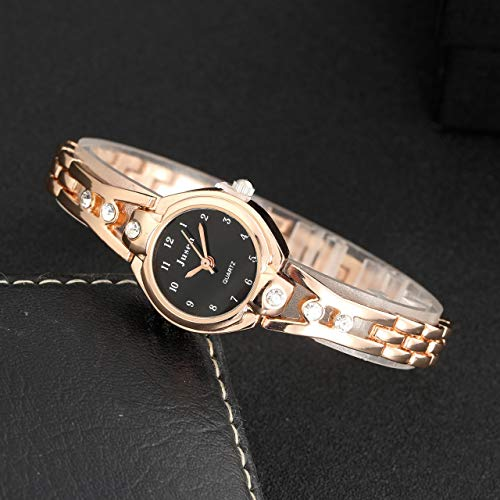 Top Plaza Womens Ladies Elegant Casual Wrist Watch Bangle Cuff Bracelet