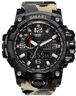 KXAITO Men's Watches Sports Outdoor Waterproof Military Watch Date