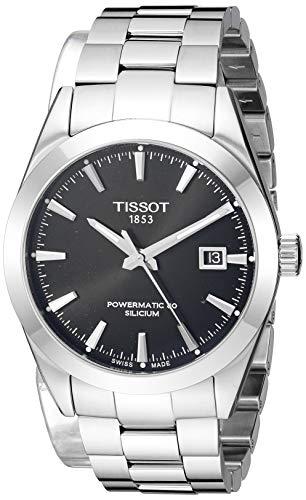 Tissot Mens Gentleman Swiss Automatic Stainless Steel Dress Watch