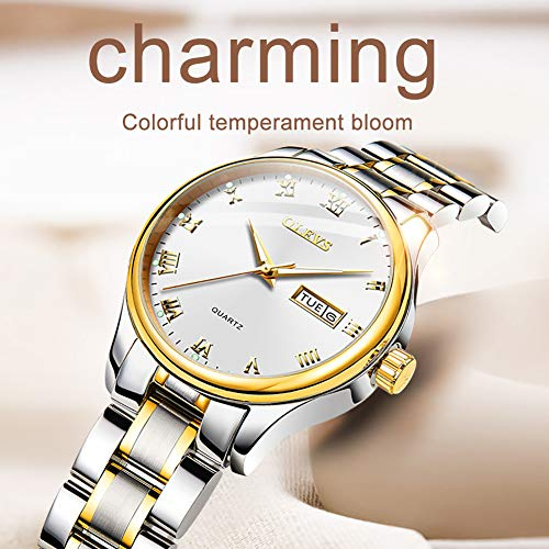 OLEVS White Womens Wrist Watches for Women Waterproof Business