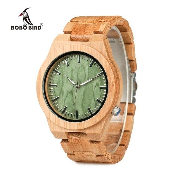 Bamboo Males's Wristwatch Classic Folding Clasp