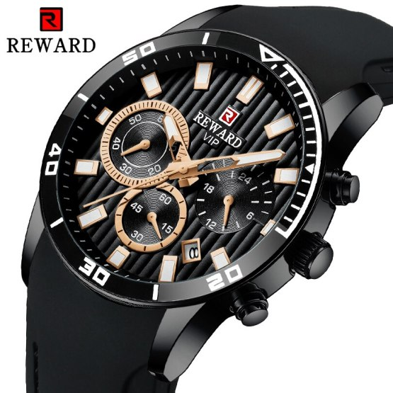 REWARD Chronograph Mens Watches Brand Luxury Casual Sport Date