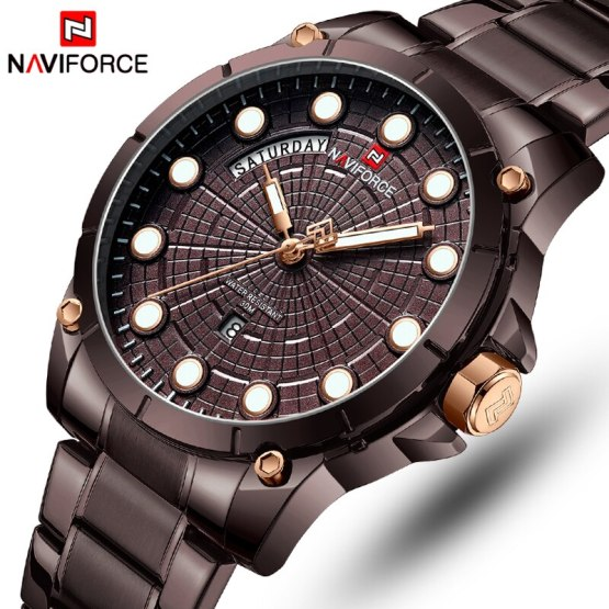 Luxury Brand Watches Men Fashion Full Stainless Steel Waterproof