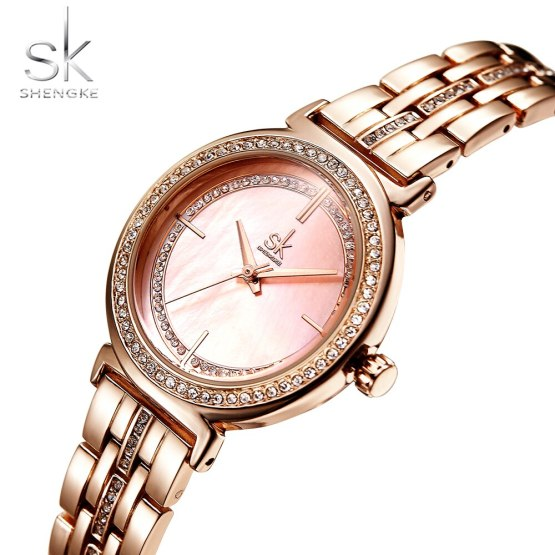 Shengke Rose Gold Watch Women Watches Top Brand