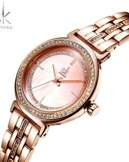 Shengke Rose Gold Watch Women Watches Top Brand