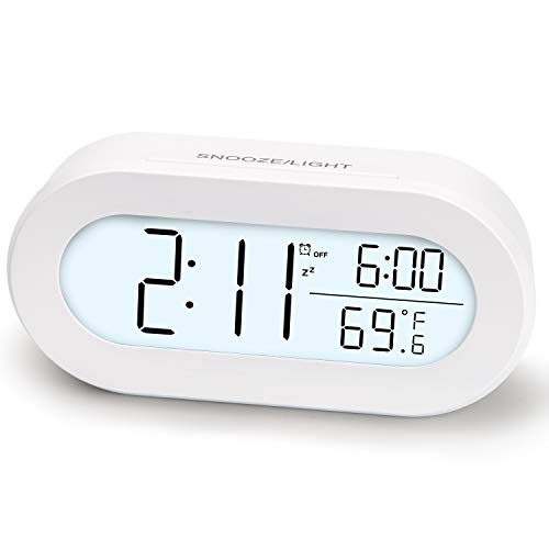Digital Alarm Clocks for Desk or Bedroom, Small Alarm Clocks for Kids