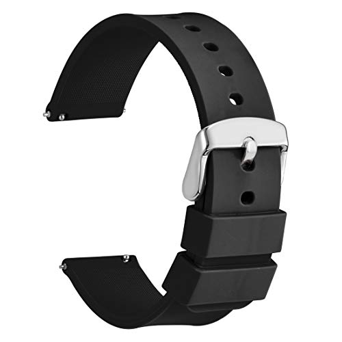 Silicone Watch Band 14mm Soft Rubber Replacement Strap