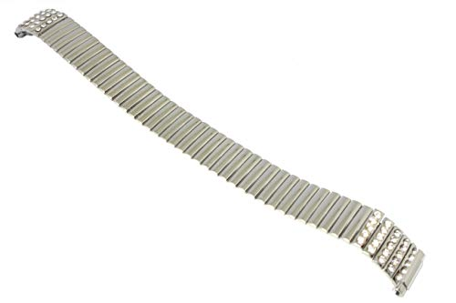 Speidel Expansion Watch Band Watch with Silver Rhinestones