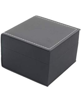 Luxury Black Single Watch Gift Box with Pillow PU Leather