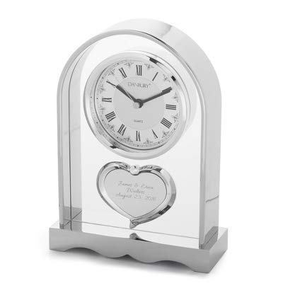 Things Remembered Personalized Couples Heart Mantel Clock