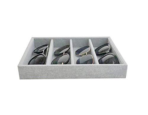 Gray Plush Velvet Glasses and Watch