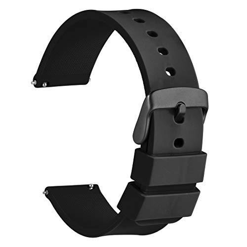 WOCCI Silicone Watch Band 22mm, Soft Rubber Replacement Straps