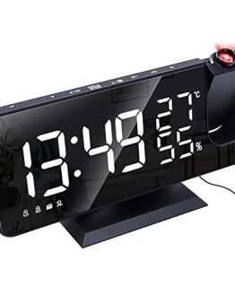 EAAGD Projection Digital Alarm Clock, LED Display with USB