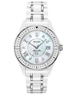 Bulova Marine Star Quartz Watch with Ceramic Strap,