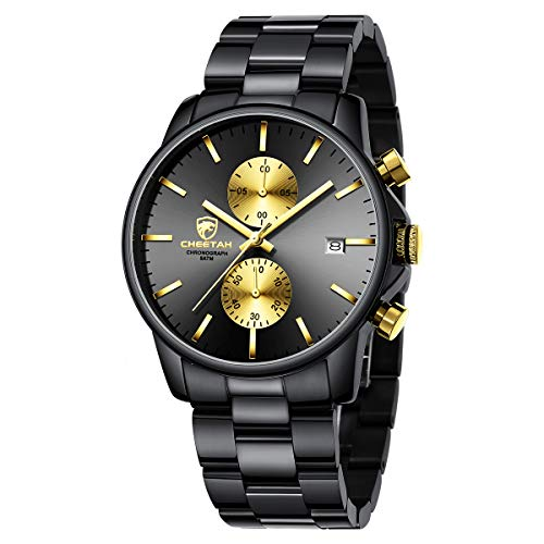 GOLDEN HOUR Watch Waterproof Chronograph Quartz Watch