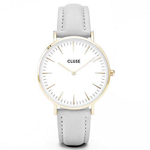 CLUSE La Bohème Gold White Grey Women's Watch 38mm