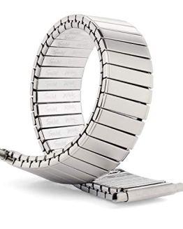 Speidel Men's Twist-O-Flex Stainless Steel Stretch Metal
