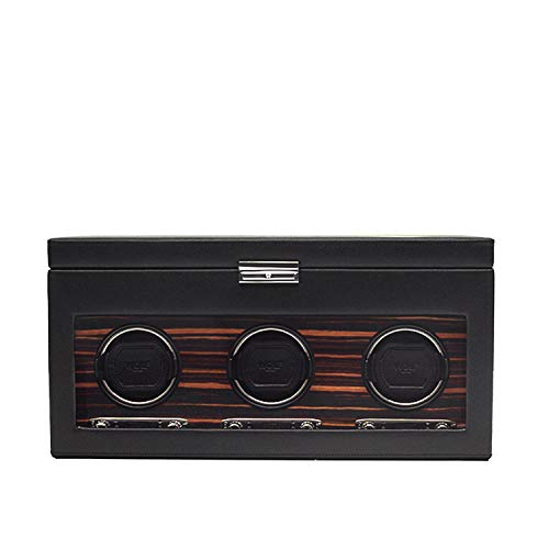 Triple Watch Winder with Cover and Storage