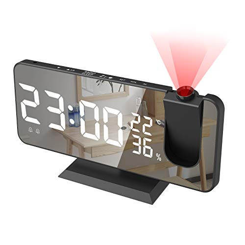 Radio Digital Alarm Clock with USB Charger