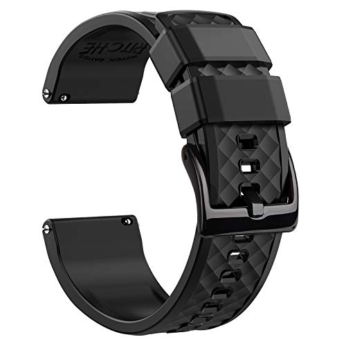 Silicone Watch Bands Quick Release Rubber 21mm