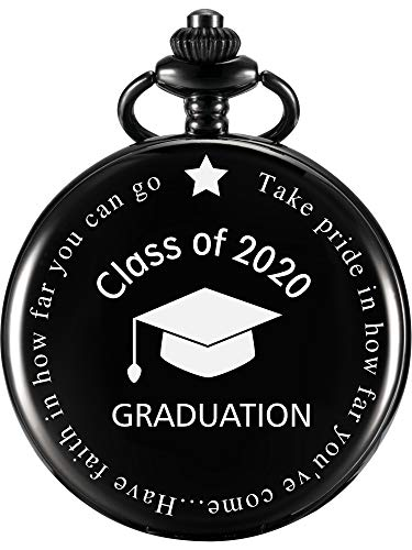 Pocket Watch Personalized Engraved Graduation Class of 2020 Graduation