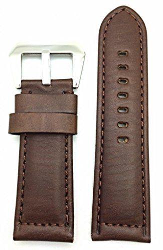 Panerai Watch 26mm Dark Brown Leather Watch Band