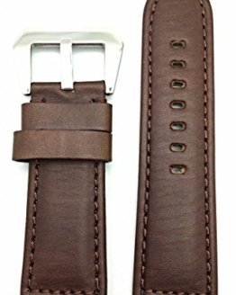 Panerai Watch 26mm Dark Brown Leather Watch Band