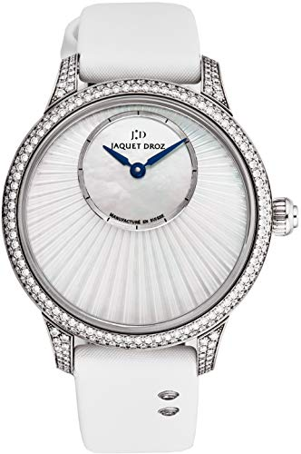 Jaquet Droz Sapphire Crystal and White Satin Leather Strap - Fixed Bezel Set