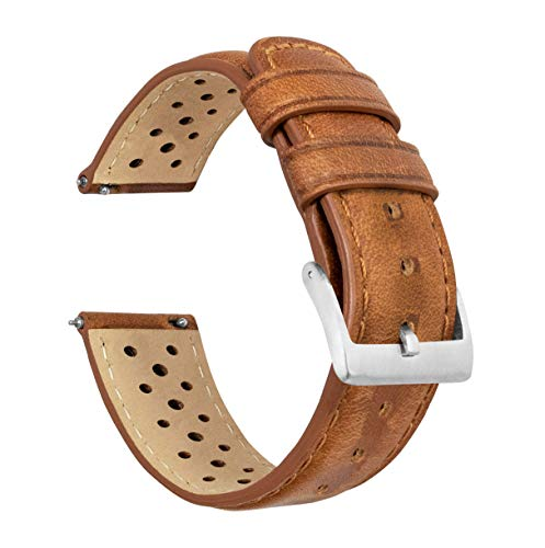 Leather Watch Bands with Integrated Quick Release Spring Bars