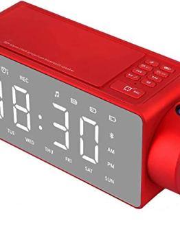 Htterino Projection Alarm Clock Bluetooth Speaker