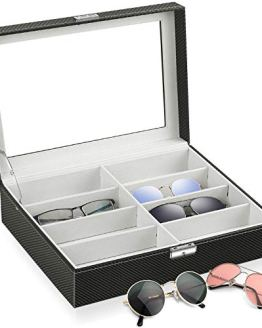 Watch Storage Box Lockable Case Black