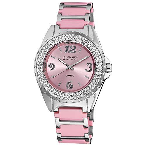 Crystals On Bezel On Ceramic Bracelet Watch August Steiner