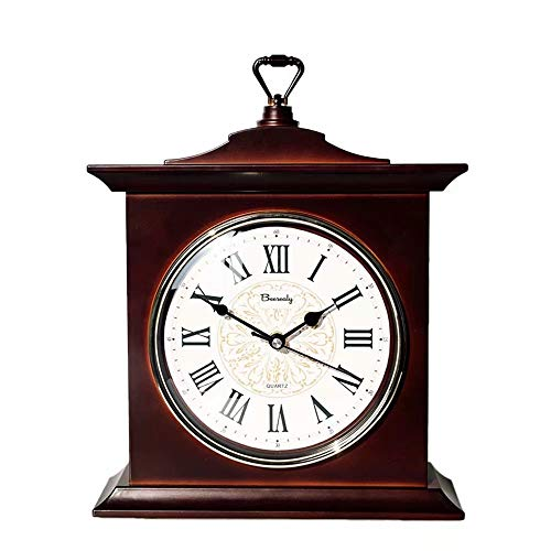 Silent Retro Mantel Clock for Bedroom