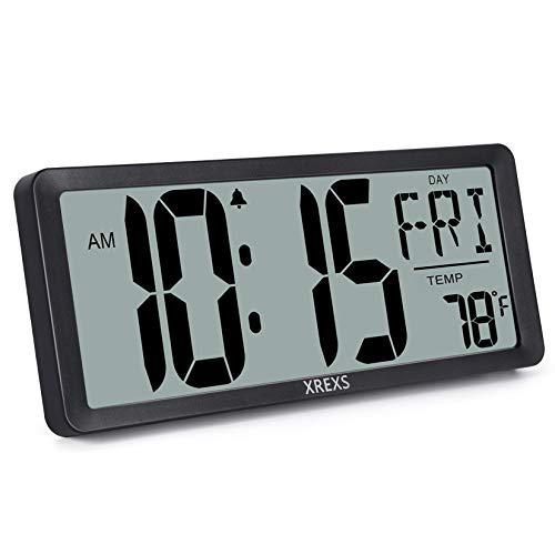 Large Digital Wall Clock for Bedroom