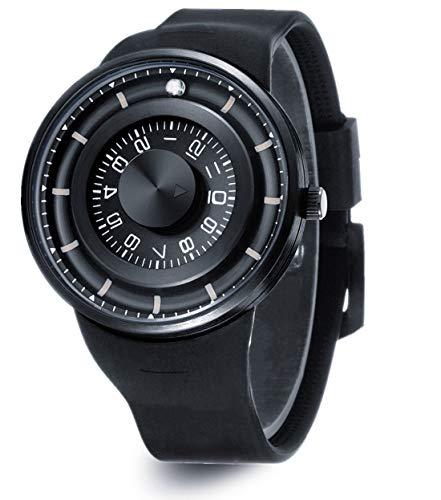 Skone Unique Men's Watches Waterproof, Fashion Silicone Strap