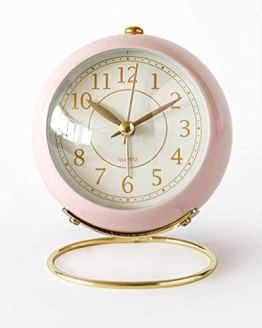 Non-Ticking Silent Small Table Clock